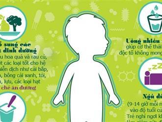 Cách tăng cường khả năng miễn dịch ở trẻ 2 tuổi cấp tốc ngày hè