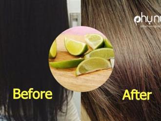 """Nhuộm tóc """"tẹt ga"""" từ đen chuyển thành nâu hạt dẻ, lên màu """"y chang"""" ra tiệm mà không sợ hỏng tóc chỉ với 1 quả chanh"""