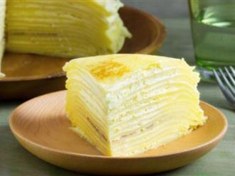 Cách làm bánh crepe sầu riêng ngàn lớp thơm ngon, ai ăn cũng ghiền