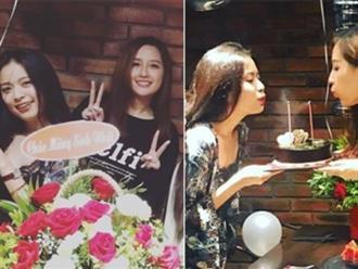 Hoàng Thùy Linh và Mai Phương Thúy bất ngờ khi được bạn bè tổ chức sinh nhật sớm