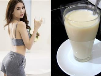 Pha sữa đặc với mật ong uống mỗi tối, da trắng bóc như Ngọc Trinh, vòng 1 tăng size ầm ầm khiến ai cũng ngỡ ngàng