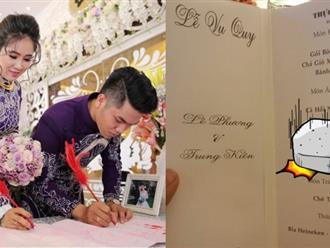Thực đơn sang chảnh ở đám cưới Lê Phương - Trung Kiên