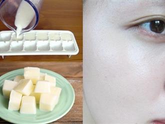 Đông đá sữa tươi để thoa lên mặt, mẹo hay giúp da trắng nõn!
