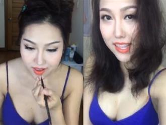"""""""Đứng hình"""" vì Phi Thanh Vân mặc váy 2 dây trễ nải dạy cách làm đẹp"""
