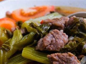 Canh dưa chua thịt bò nấu kiểu này ăn bao nhiêu cho đủ, ai chẳng ghiền