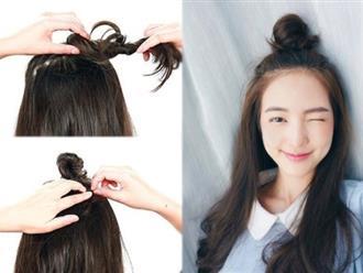 Cách tạo kiểu tóc cực đẹp chỉ trong 1 phút