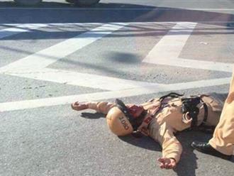 CSGT bị đâm ngã gãy tay khi dừng xe vi phạm