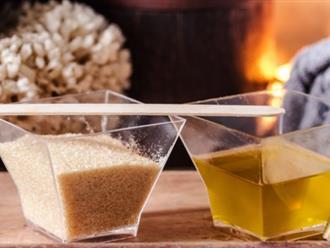 Làm đẹp với dầu oliu và đường, sự kết hợp hoàn hảo làm sạch và dưỡng ẩm toàn diện cho da