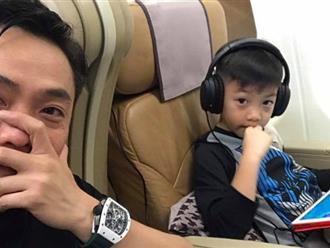 Mặc vợ cũ có tình mới, Cường Đô la vui vẻ đưa con trai đi du lịch