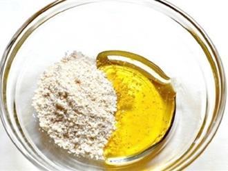 Da trắng, diệt sạch mụn từ cách làm đẹp với cám gạo và dầu oliu