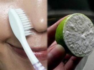 Cách trị sạch 100% mụn đầu đen bằng chanh và bàn chải đánh răng