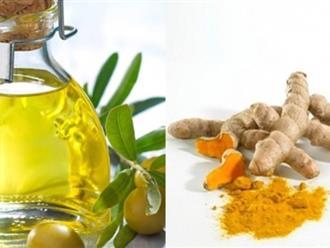 10 phút mỗi ngày làm đẹp với dầu oliu và nghệ, bạn sẽ nhận được kết quả đáng kinh ngạc