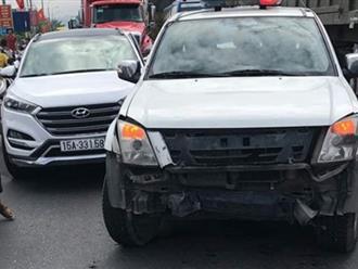 Quảng Ninh: Lái xe 'điên' 3 lần chống lệnh CSGT, đâm hỏng xe chuyên dụng