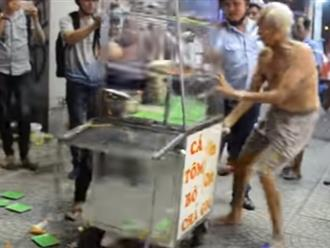 Cụ 80 tuổi giành giật, lực lượng của ông Hải quyết cẩu xe cá chiên