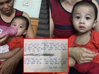 Hà Nội: Bé trai 1 tuổi bị bỏ rơi tại hội chợ kèm theo lá thư người mẹ để lại nói lời xin lỗi