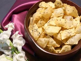 Chế biến đậu phụ thành món bánh quy thơm ngon, hấp dẫn ai ai cũng mê