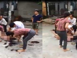 Xác định 5 người đánh ghen, lột đồ cô gái trẻ giữa đường