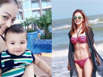 Bà mẹ 3 con Jennifer Phạm gây choáng khi diện bikini 'ăn đứt gái 18' tạo dáng táo bạo bên bể bơi