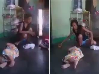 Người phụ nữ đánh đập bé gái dã man khiến dân mạng dậy sóng