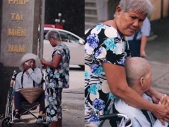 Lời cầu nguyện trước cổng chùa của cụ bà đẩy xe lăn chở chồng đi bán vé số khiến nhiều người suy ngẫm