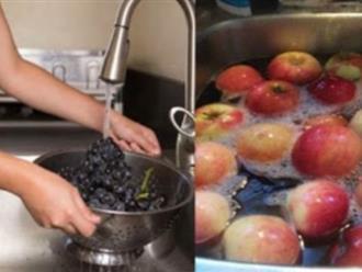 Nước muối thôi chưa đủ, đây mới là thứ 'gột sạch' 5 loại trái cây ngậm nhiều hóa chất nhất