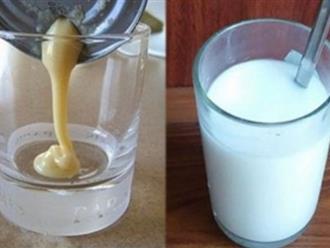 Pha sữa đặc với thứ này uống mỗi ngày, eo thon, ngực nở, da trắng bóc