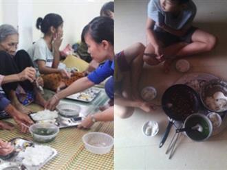 Thương về miền Trung: Rớt nước mắt với hình ảnh những bữa cơm đơn sơ vùng tâm bão