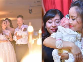 Choáng với lễ đầy tháng xa hoa của con gái diễn viên Hoàng Yến và chồng thứ 4 kém tuổi