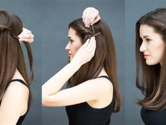 Đổi mới diện mạo chỉ trong 1 phút với những kiểu tóc đơn giản dễ làm