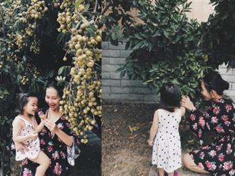 Về nhà bố mẹ chồng ở Mỹ, cả Kim Hiền lẫn con gái đều thích thú với điều này