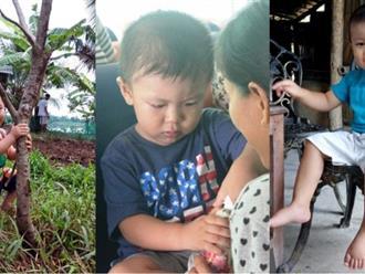 Bé trai từng bị đâm xuyên não đã lên 2 tuổi và rất kháu khỉnh