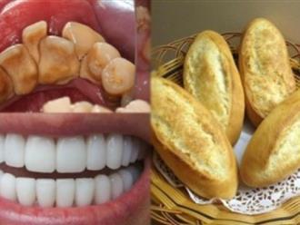 Chỉ với 1 chiếc bánh mì bạn đã có thể tẩy sạch cao răng hiệu quả như đến nha khoa
