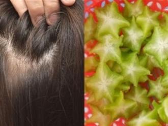 Lấy nước ép khế chua gội đầu theo cách này, tóc bạc sớm, xơ rối hay gãy rụng cũng hóa đen nhánh, dày mượt