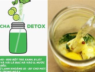 Teatox - Phương pháp thải độc bằng trà không hề vất vả, khó khăn như bạn nghĩ