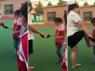 Clip sốc: Cô giáo dùng giày cao gót đánh, đạp học sinh tiểu học gây phẫn nộ