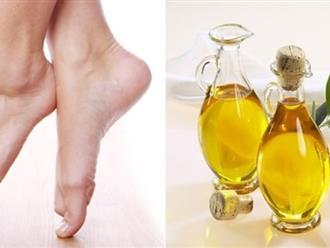 Tạm biệt gót chân khô, nứt nẻ trong nháy mắt với cách trị nứt gót chân bằng dầu oliu