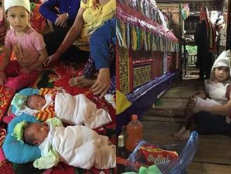 Mẹ qua đời vì tai biến sau sinh, hai bé trai sinh đôi 10 ngày tuổi khóc ngằn ngặt đòi sữa