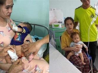 Xót xa hoàn cảnh éo le của cặp vợ chồng tật nguyền nuôi con 6 tháng tuổi mắc nhiều bệnh hiểm nghèo