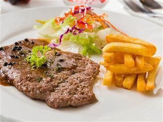 Cách nấu bò bít tết cho bữa cơm gia đình thêm tròn vị