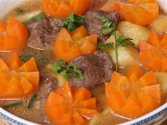 Mách chị em những cách nấu thịt bò hầm khoai tây ngon đúng điệu