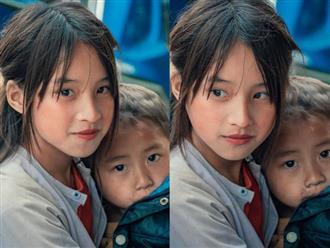 Bé gái Hà Giang gây sốt khi lọt vào ống kính của một du khách với nhan sắc 'thần tiên tỷ tỷ'