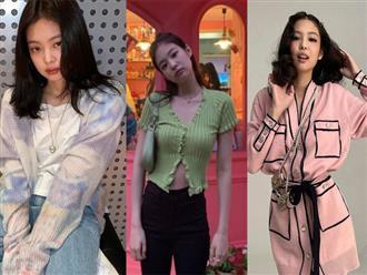 Các kiểu mặc cardigan độc lạ của Jennie mà khi nàng vận dụng là 'xinh quên lối về'