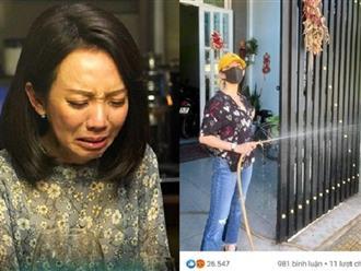 Thu Trang 'bàng hoàng' khi đăng ảnh tưới cây bình thường nhưng lại nhận về gần 7000 phẫn nộ