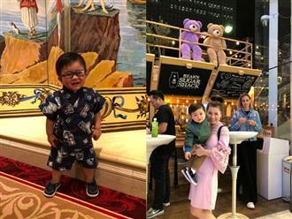 Vợ Đan Trường đưa con trai 1 tuổi đi du lịch Nhật Bản