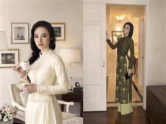 Angela Phương Trinh hóa quý cô với áo dài Công Trí