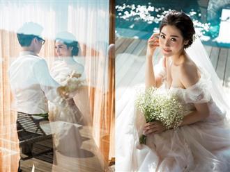 Á hậu Tú Anh khoe vòng 1 gợi cảm trong bộ ảnh cưới cùng bạn trai cũ của Văn Mai Hương