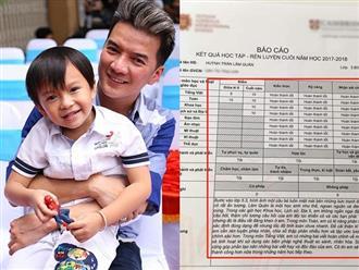 """Khen 2 con ngoan, học giỏi, Mr Đàm khiến dân mạng chú ý bảng kết quả học tập """"khủng"""""""