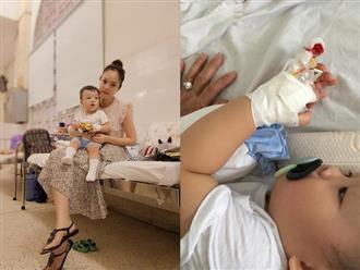 Dương Cẩm Lynh xót xa nhìn con trai bé bỏng phải một mình vào phòng phẫu thuật