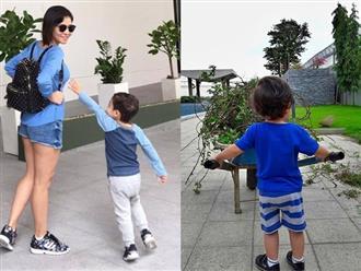 Mới 3 tuổi, con trai Thu Minh đã cao lớn phổng phao bất ngờ
