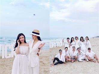 Cận ngày cưới, Diệp Lâm Anh và dàn chân dài Vbiz dự tiệc sinh nhật bạn thân